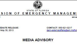 Florida Division of Emergency Management Media Advisory - May 31 2013 FINAL